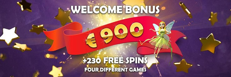 €900 Euro Welcome Bonus  + 230 Free Spins